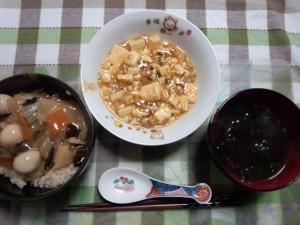 麻婆豆腐+中華丼